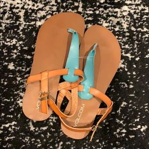 Volcom leather sandals. Size 7.